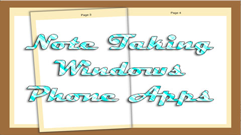 Note Taking Windows Phone Apps