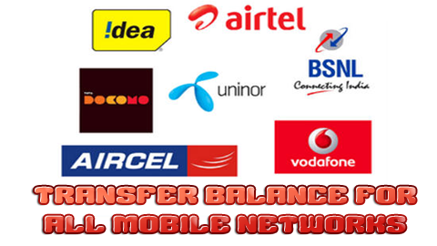 Transfer Balance For All Mobile Networks
