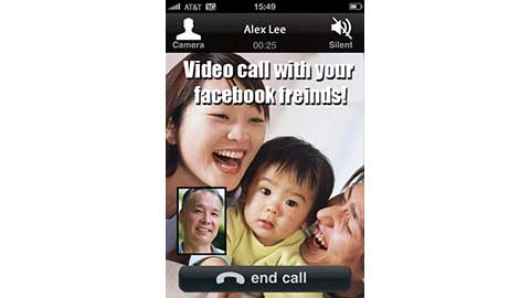 Facebook Video Chat on iPhone