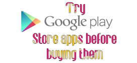 try Play Store apps